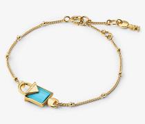 Armband aus Sterlingsilber mit 14-Karätiger Goldbeschichtung und Schloss