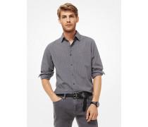 Slim-Fit-Hemd aus Bedruckter Baumwolle