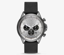 MK Übergroße Armbanduhr Gage In Mattgrau Mit Gewebtem Armband - Schwarz(Schwarz) - Michael Kors