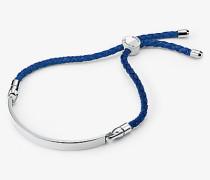 Blaues Armband aus Seide mit Schiebeknoten