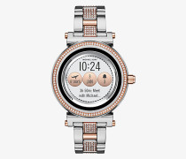 Zweifarbige Smartwatch Sofie mit Pave-Fassung