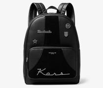 Bryant Retro Stripe Leather Backpack
