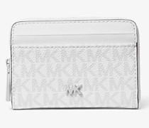 Kleine Brieftasche aus Leder mit Logo