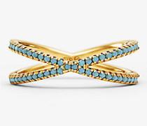 Nesting-Ring aus Sterlingsilber mit 14-Karätiger Goldbeschichtung und Pave-Fassung