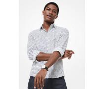 Slim-Fit-Hemd aus Stretch-Baumwolle mit Rautenmuster