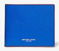 Brieftasche Harrison aus Leder in Blockfarben