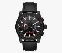 Hybrid-Smartwatch Grayson in Schwarz mit Silikonarmband
