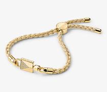 Macrame-Armband mit Schloss aus Sterlingsilber und 14-Karätiger Goldbeschichtung im Set