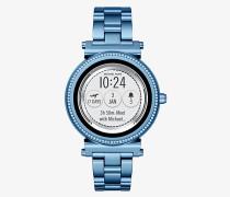 Smartwatch Sofie in Blau mit Pave-Fassung