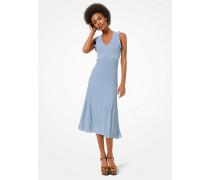 MK Kleid Aus Gerippter Stretch-Viskose Mit Rüschen - Chambray(Blau) - Michael Kors