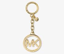 Schlüsselanhänger mit Logo im Goldton