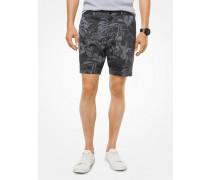 Shorts aus Stretch-Baumwolle mit Tropischem Muster