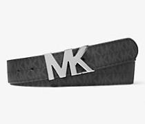 MK Wendbarer Gürtel Mit Logoschnalle - Schwarz(Schwarz) - Michael Kors