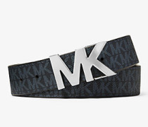MK Wendbarer Gürtel Mit Logoschnalle - Admrl/blblau(Blau) - Michael Kors