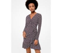 Kleid Aus Dichtem Stretch-Jersey Mit Geometrischem Muster