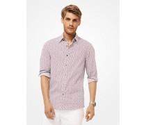 Bedrucktes Slim-Fit-Hemd aus Stretch-Baumwolle