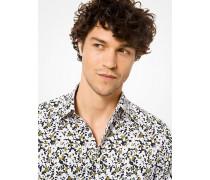 Slim-Fit-Hemd aus Stretch-Baumwolle mit Muster