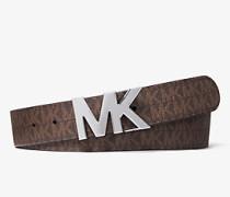 MK Wendbarer Gürtel Mit Logoschnalle - Braun/schwarz(Braun) - Michael Kors
