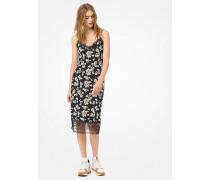 Slip-Kleid aus Dichtem Stretch-Jersey mit Blumenmuster