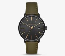 Armbanduhr Blake in Schwarz mit Lederarmband