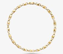 Halskette Mercer Link aus Sterlingsilber mit Edelmetallbeschichtung