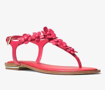Sandale Tricia aus Leder mit Blumenapplikationen