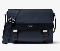 MK Messenger-Tasche Brooklyn Aus Nylon-Gabardine - Navyblau(Blau) - Michael Kors