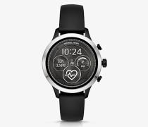 Smartwatch Runway im Silberton mit Silikonarmband