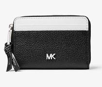Kleine Brieftasche aus Zweifarbigem Gekrispeltem Leder