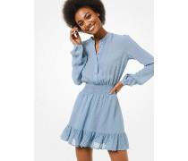 MK Jacquard-Kleid Mit Punktmuster - Chambray(Blau) - Michael Kors