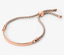 Taupefarbenes Armband aus Seide mit Schiebeknoten
