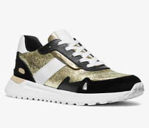 Sneaker Monroe aus Leder in Metallic-Optik und Wildleder