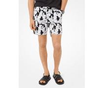 Shorts aus Stretch-Baumwolle mit Blumenmuster