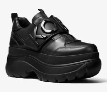 Verzierter Plateau-Sneaker Cortlandt aus Leder