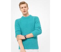 Gerippter Sweater aus Baumwolle und Kaschmir