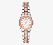 Zweifarbige Armbanduhr Petite Lexington mit Pave-Fassung