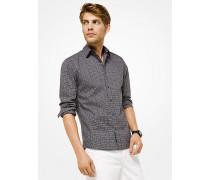Slim-Fit-Hemd aus Baumwolle mit Hahnentrittmuster