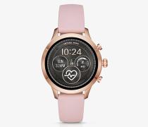 Smartwatch Runway im Rose-Goldton mit Silikonarmband