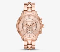 Übergroße Armbanduhr Runway Mercer im Rose-Goldton