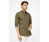 Slim-Fit-Hemd aus Baumwolle mit Leopardenmuster