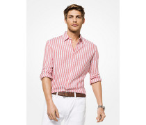 Gestreiftes Slim-Fit-Hemd aus Leinen