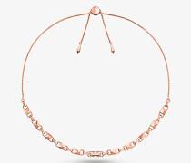 Halskette Mercer Link aus Sterlingsilber mit Edelmetallbeschichtung und Schiebeknoten