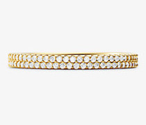 Pave-Ring aus Sterlingsilber mit Edelmetallbeschichtung