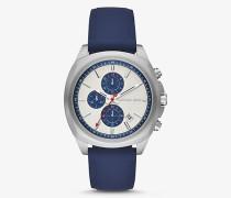 Armbanduhr Bryson im Silberton mit Silikonarmband