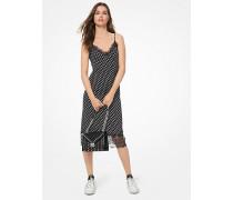 Gepunktetes Slip-Kleid Aus Dichtem Stretch-Jersey