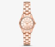 Armbanduhr Petite Runway im Rose-Goldton mit Pave-Fassung