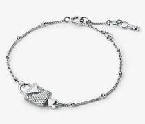 Armband aus Sterlingsilber mit Edelmetallbeschichtung und Pave-Schloss