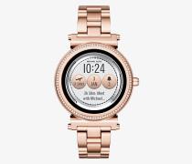 Smartwatch Sofie im Rose-Goldton mit Pave-Fassung