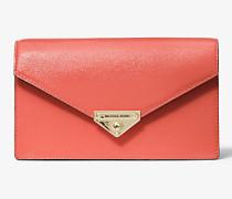 MK Clutch Grace Medium Aus Lackleder Mit Umschlag - Pink Grapefruit(Rosa) - Michael Kors