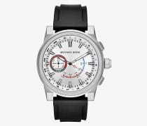 Hybrid-Smartwatch Grayson im Silberton mit Silikonarmband